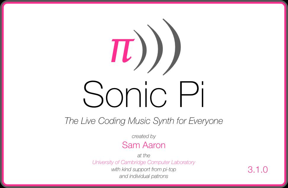 Splashscreen z Sonic Pi